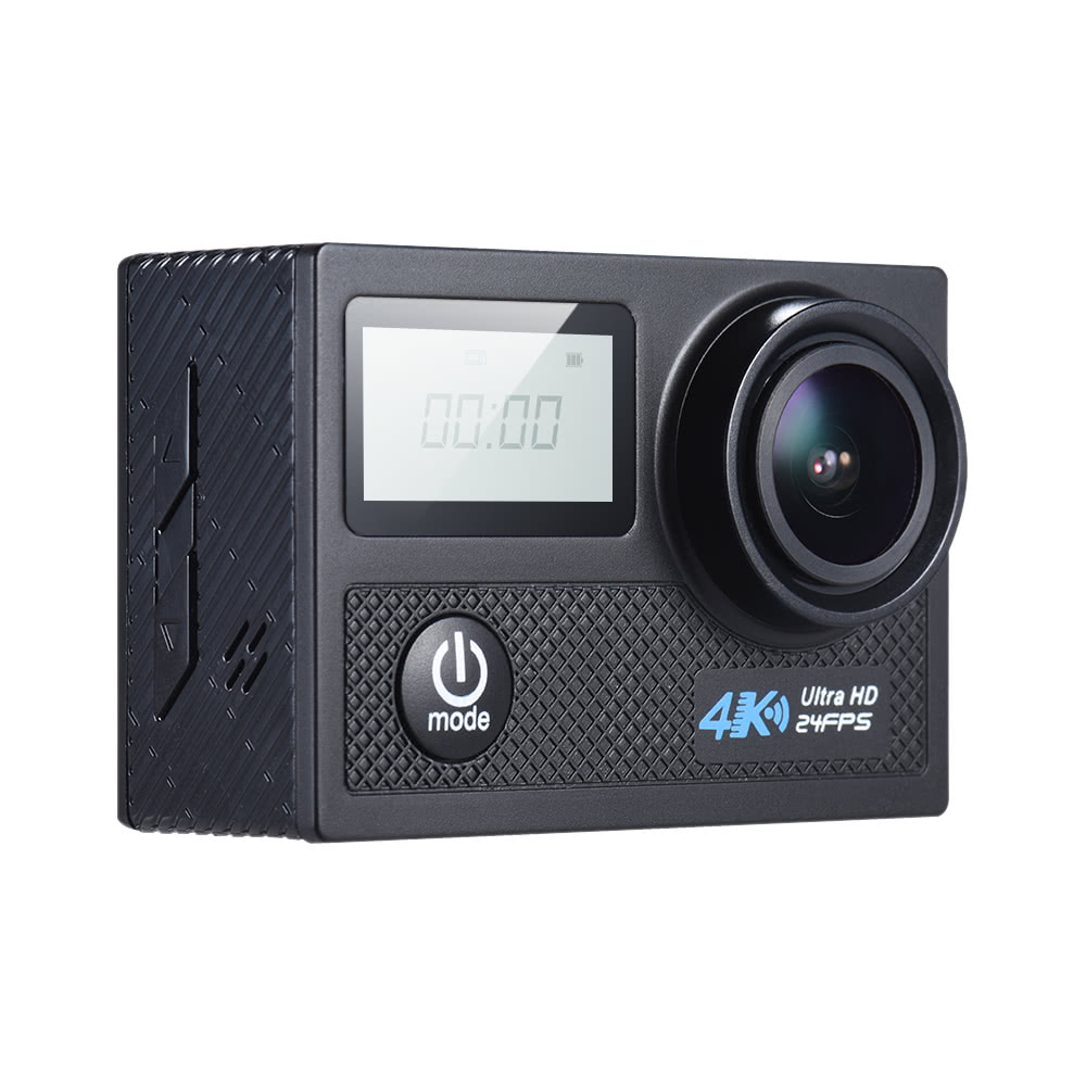 $10 Off 4K 24fps WiFi Sports Action Camera 20MP 1080P 60fps Gyroscope Anti-shake Support,free shipping $62.99