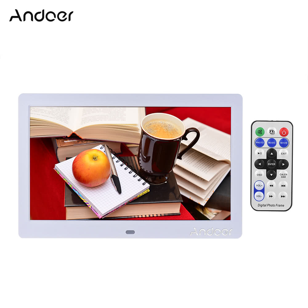 "55% OFF Andoer 10"" HD Digital Photo Frame,limited offer $28.99"