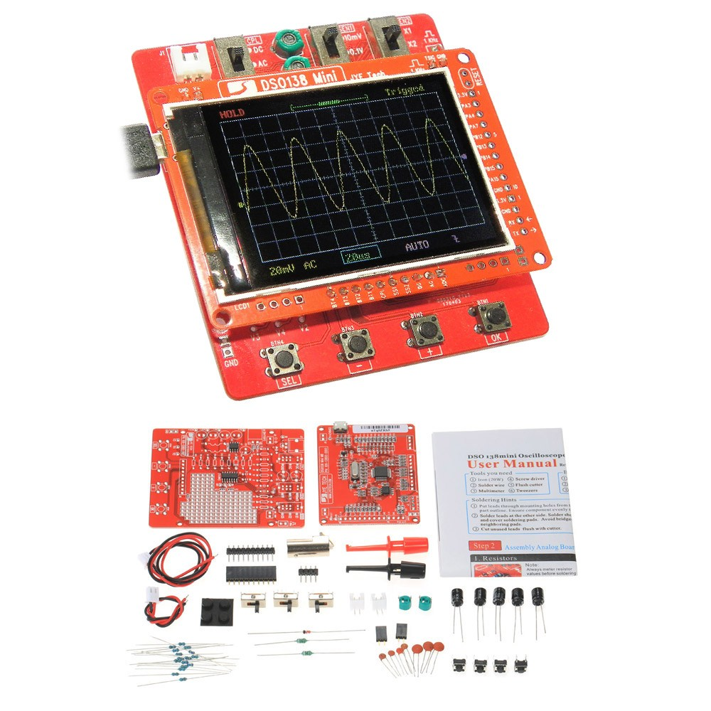 Jye tech dso138 mini digital oscillo end 4262019 430 pm jye tech dso138 mini digital oscilloscope diy kit smd parts pre solder solutioingenieria Image collections