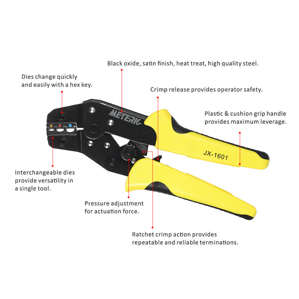 meterk professional 4 in 1 wire crimpers engineering ratcheting sales online. Black Bedroom Furniture Sets. Home Design Ideas
