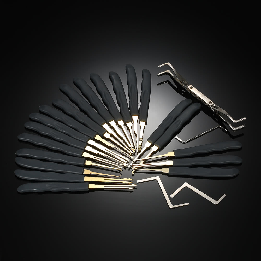 24pcs professional unlocking lock picking tools set practice sales