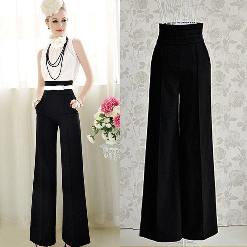 С чем носить широкие женские брюки палаццо 65