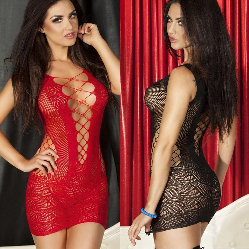 Cheap Women Sexy Lingerie Crochet Mesh Hollow Out Mini -3990