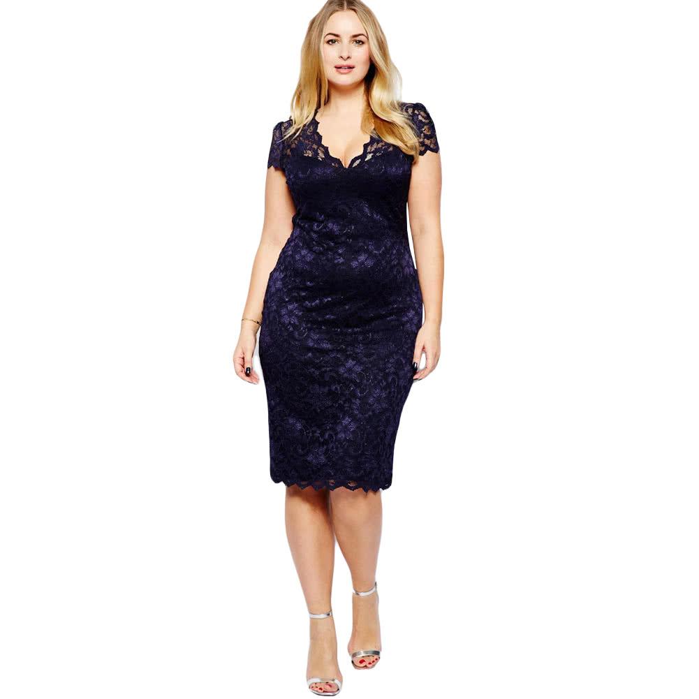 Plus size midi dresses for women