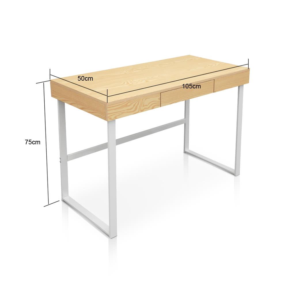 Ikayaa Modern Metal Frame Table De Bureau Pour Ordinateur