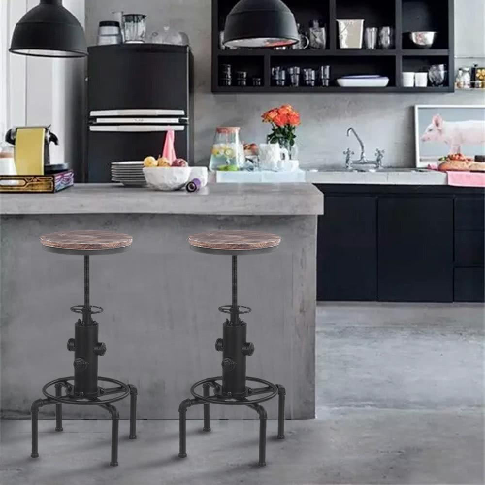 ikayaa metal industrial bar stool height adjustable swivel sales online white tomtopcom