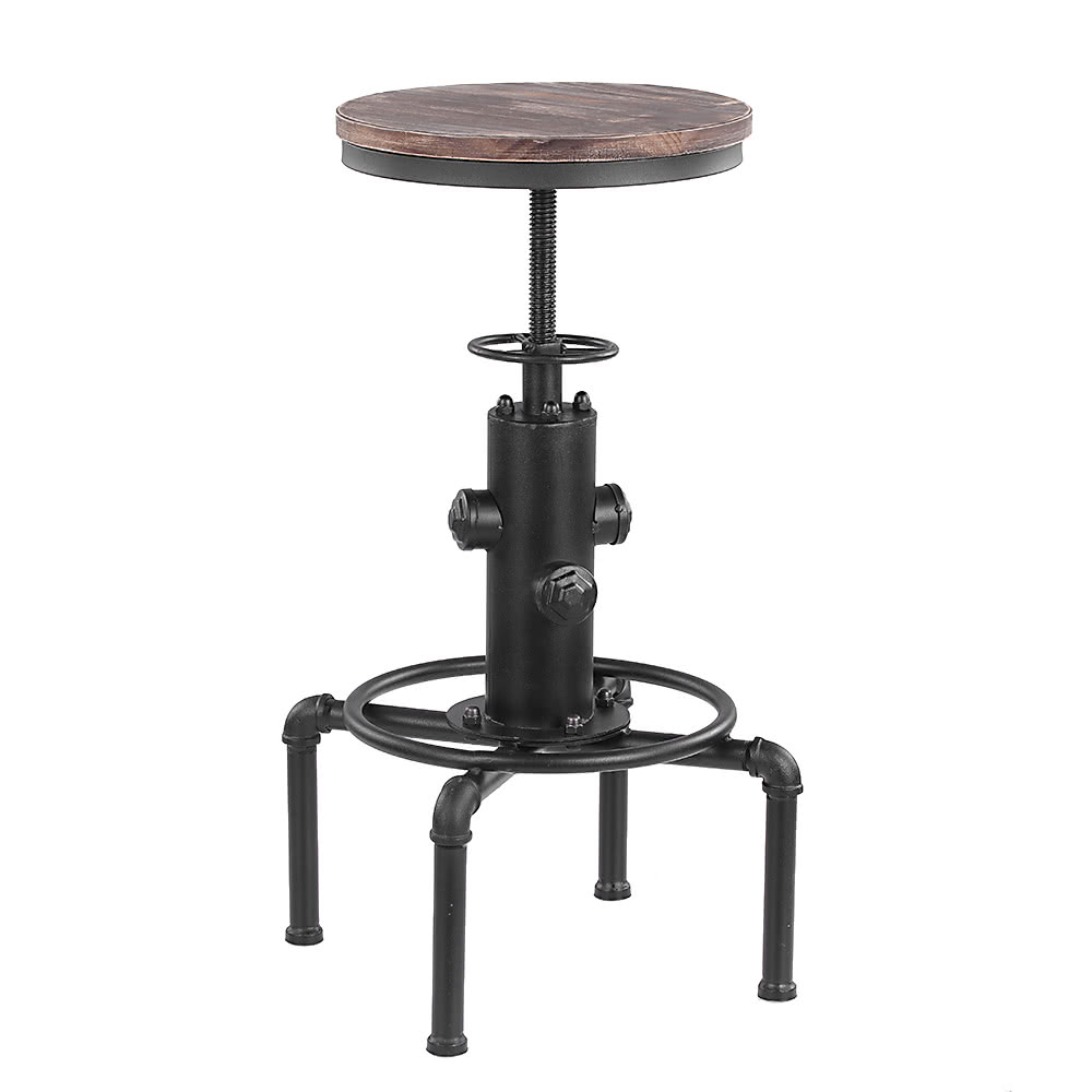 dining chairs bar stools. ikayaa metal industrial bar stool height adjustable swivel pinewood top kitchen dining chair pipe style barstool w/ footrest chairs stools