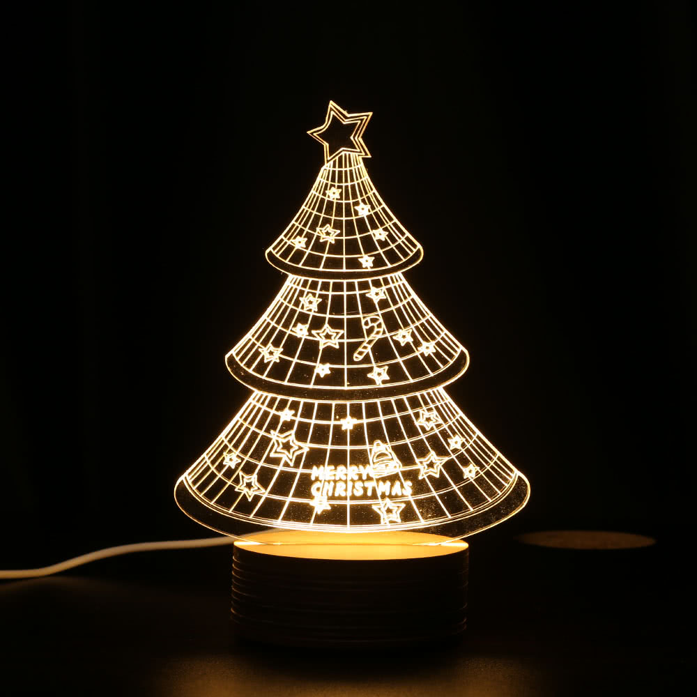 unique optical illusion 3d led desk lamp usb dc 5v nightlight sales online h16410 1 tomtopcom - Christmas Tree Night Light