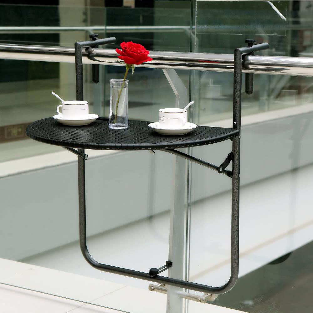 ikayaa adjustable folding balcony deck table hanging patio sales