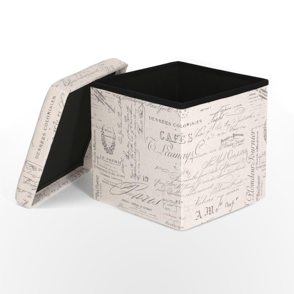 iKayaa European Foldable Storage Ottoman Fabric Foot Stool Seat Footrest Folding Storage Box Pouffe Home Furniture 14.76 * 14.96   sc 1 st  Tomtop.com & iKayaa European Foldable Storage Ottoman Fabric Foot Stool Seat ... islam-shia.org