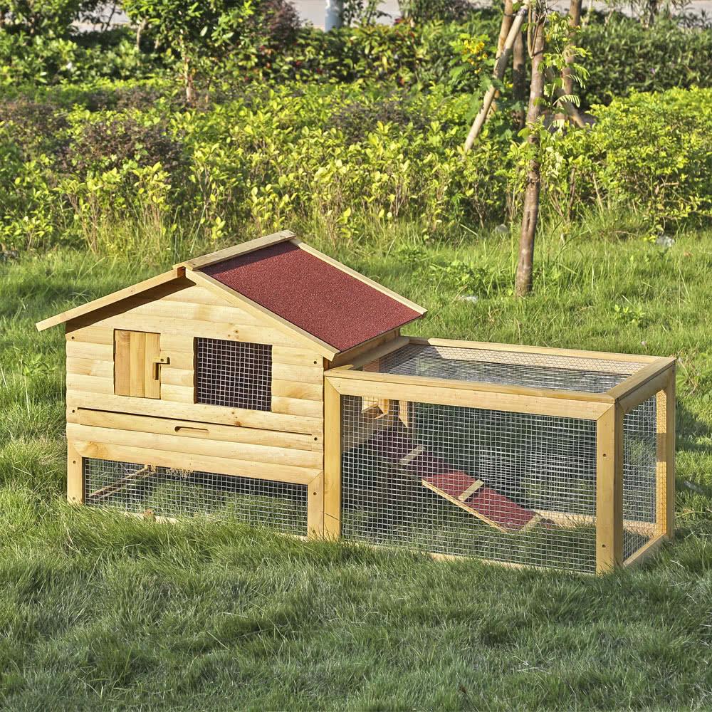 Ikayaa 62 large outdoor coop de poulet en bois for Coop meubles