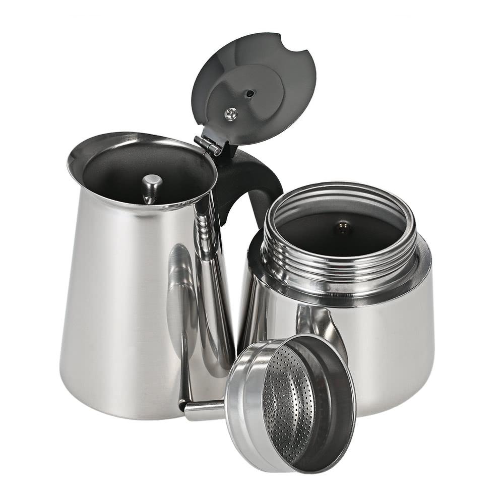 100ml 2 cup edelstahl espresso percolator kaffee herd 1. Black Bedroom Furniture Sets. Home Design Ideas