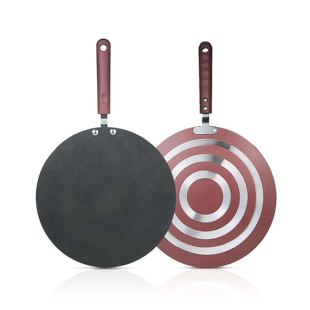 Pancake Pan Crepe Maker Flat Pan Griddle Pan With Spreader