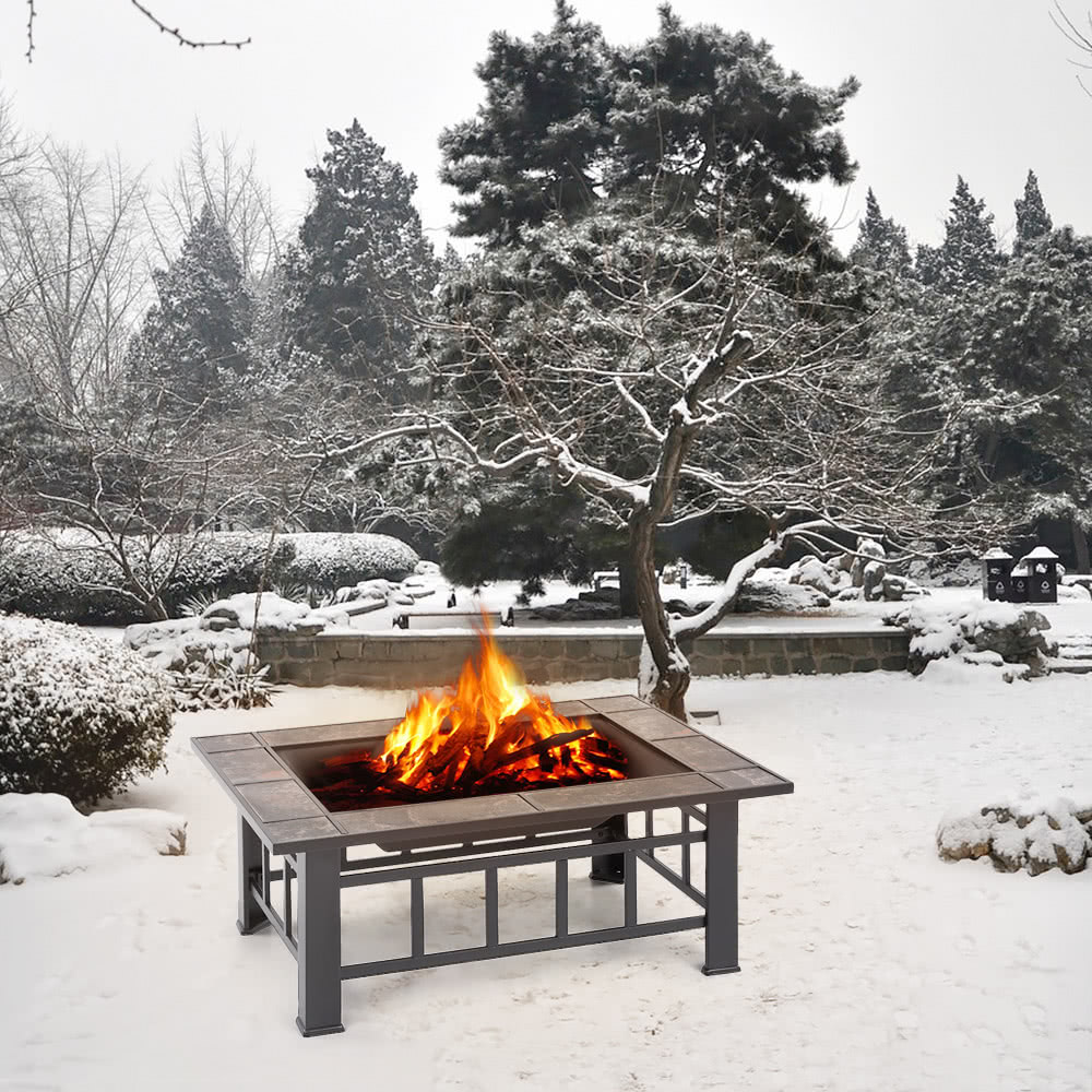 ikayaa high quality metal garden backyard fire pit patio sales
