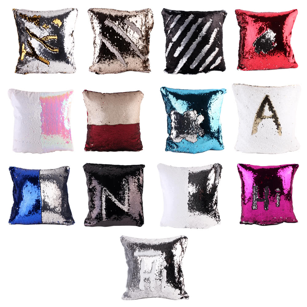 Throw Pillow Protective Covers : Double Color Throw Pillow Case Cover Protector Mermaid Super Sales Online #14 - Tomtop.com