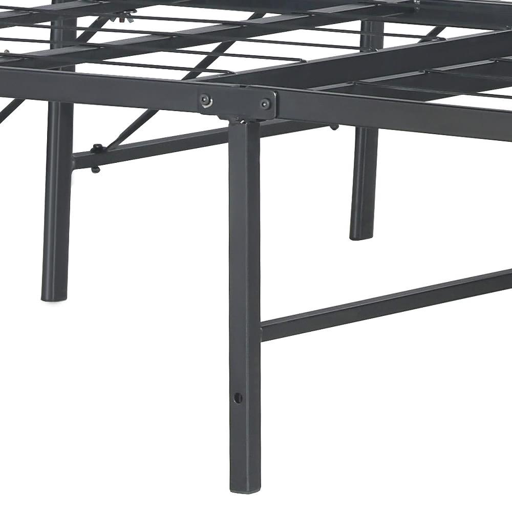 Ikayaa moderne robuste plate forme m tallique cadre de lit for Cadre de lit king plate forme ikea