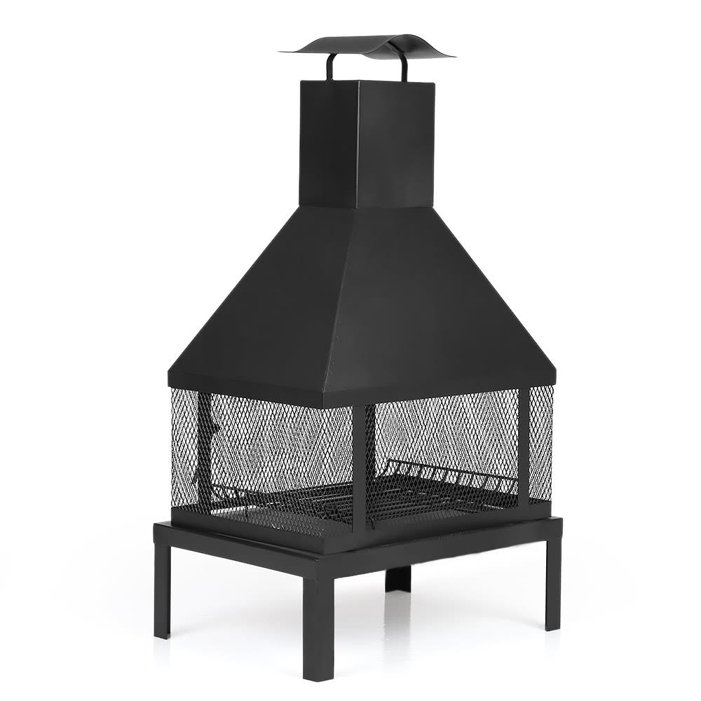 ikayaa large garden outdoor fire pit chimenea metal backyard sales