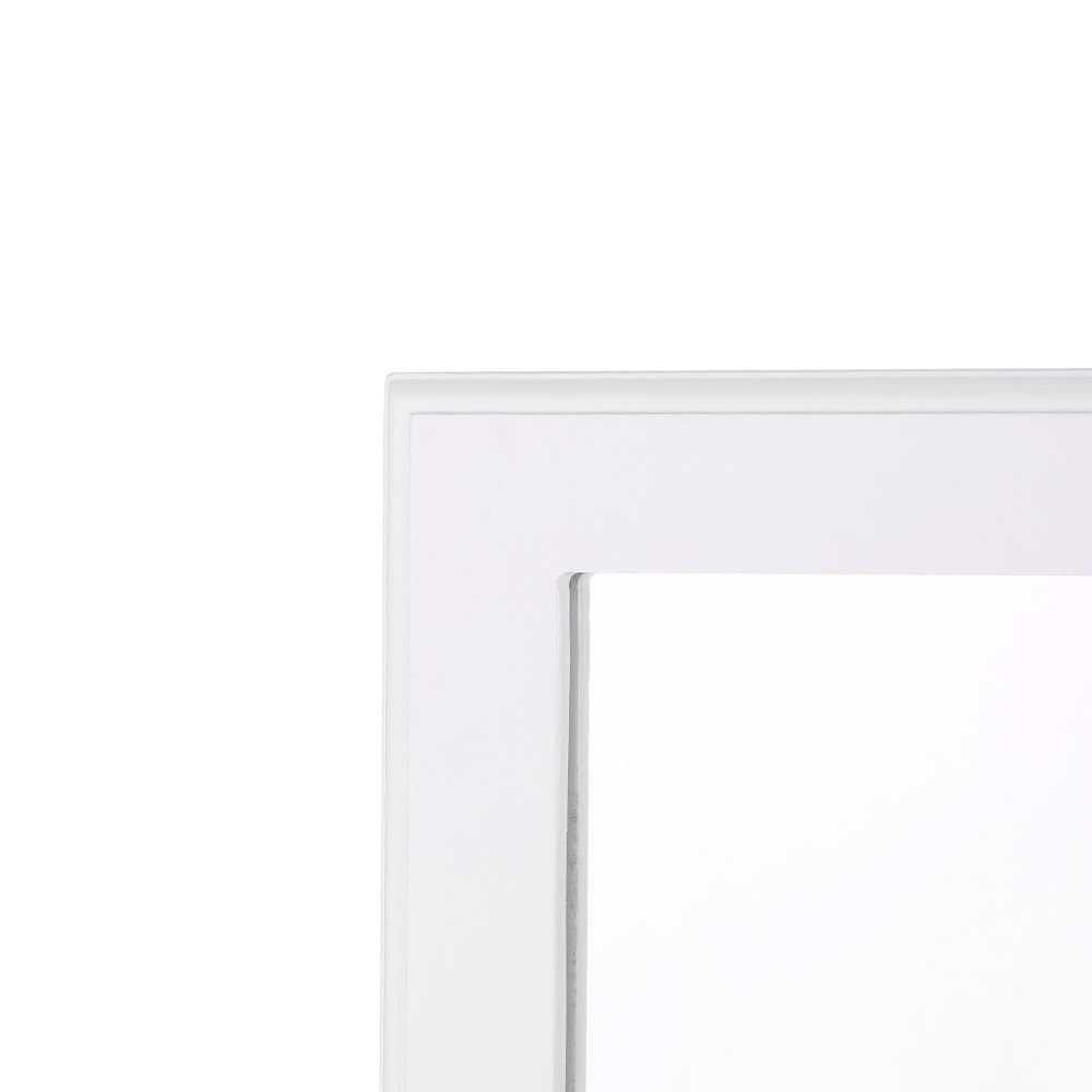 IKayaa LED Lighted Trifold Vanity Mirror Stand Folding Countertop Cosmetic  Makeup Mirror Table Marquee Beveled Edge
