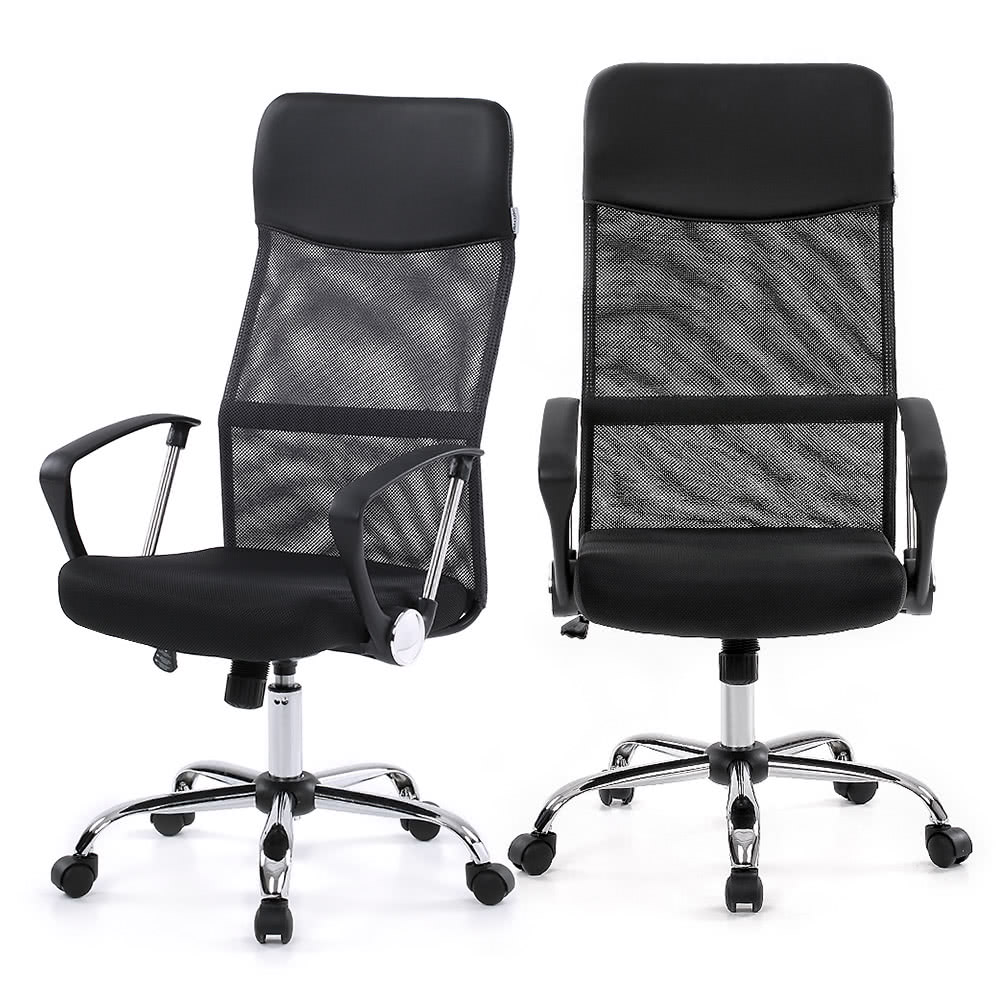 ikayaa ergonomic mesh adjustable office executive chair stool