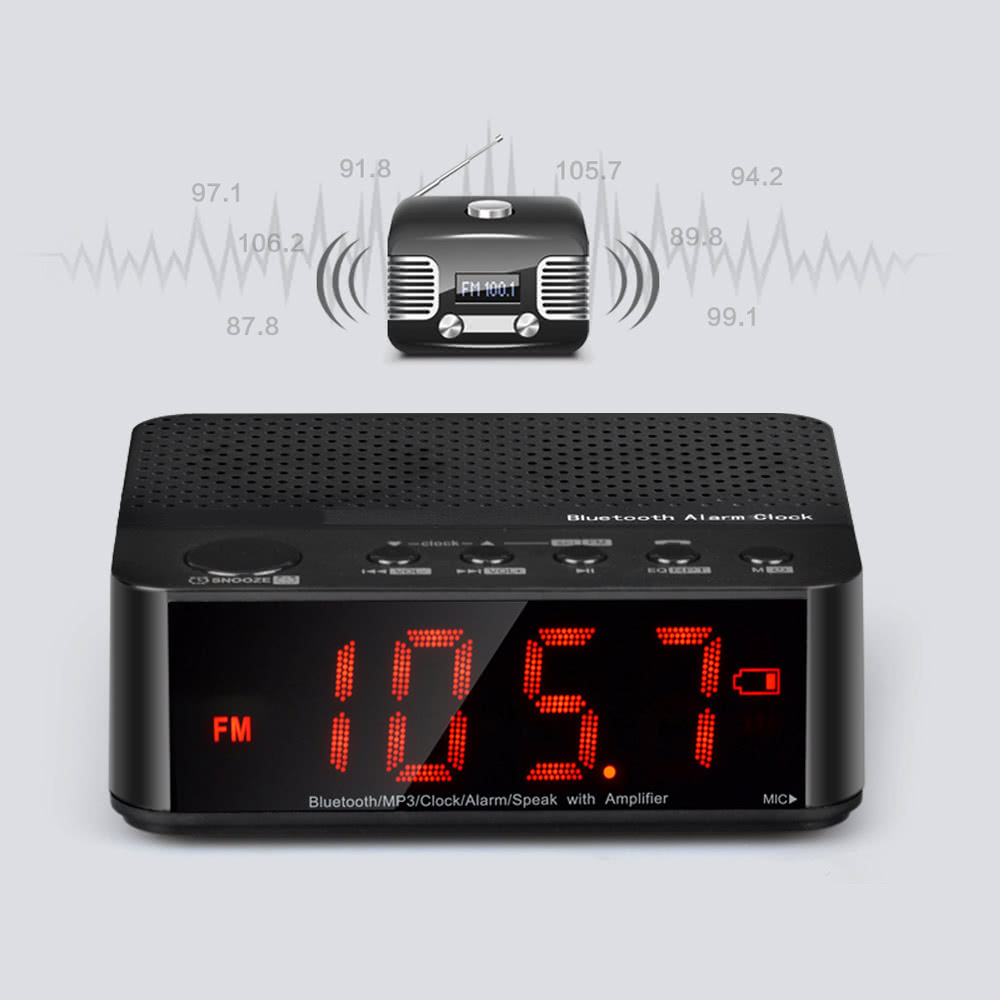 portable wireless bluetooth alarm clock. Black Bedroom Furniture Sets. Home Design Ideas
