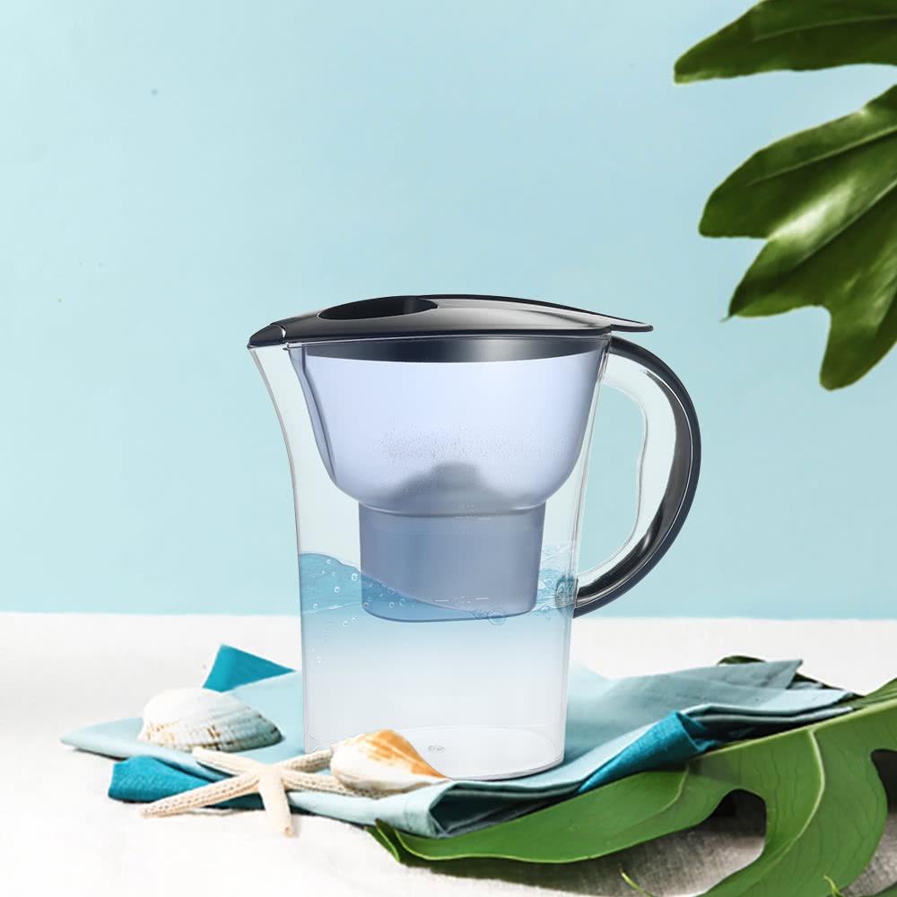 pichet eau haut de gamme avec 1 filtre bpa filtre gratuit bleu fonc. Black Bedroom Furniture Sets. Home Design Ideas