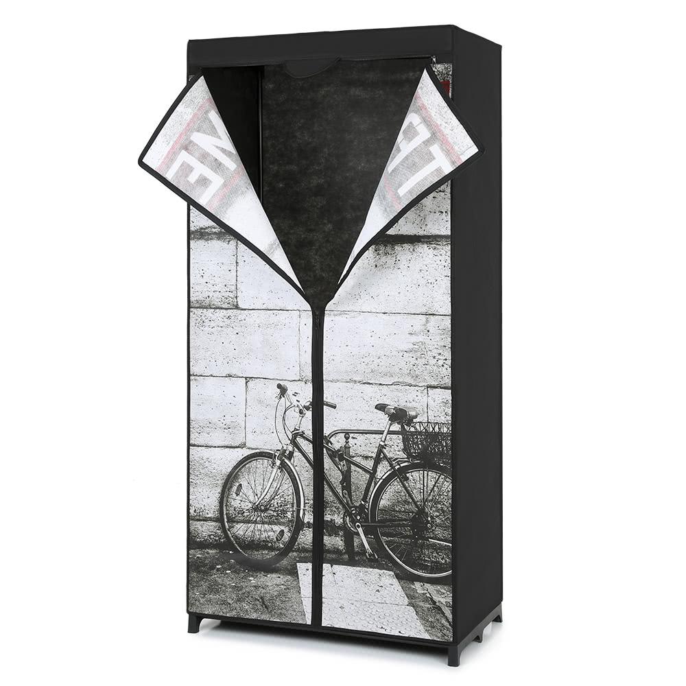 iKayaa Antique Portable Clothes Cabinet Non-Woven Fabric Sales ...