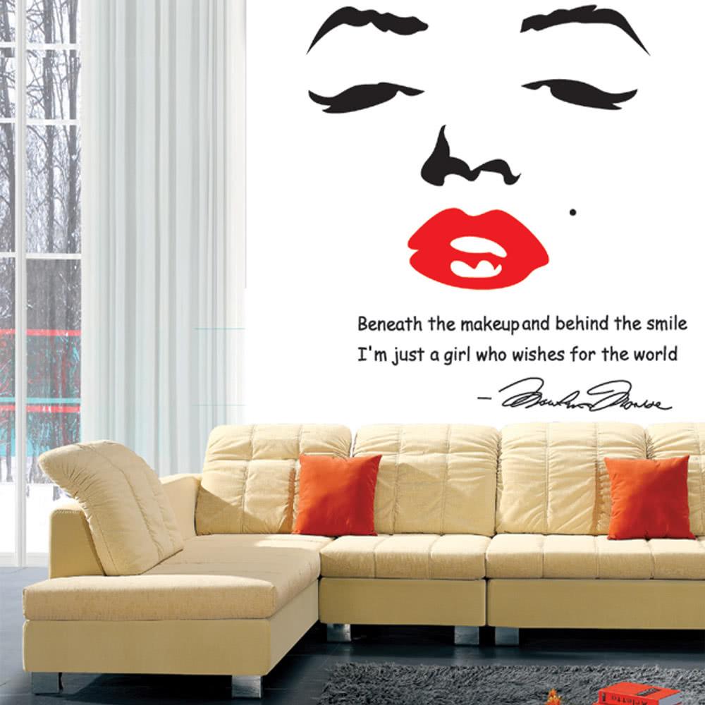 Portrait Of Marilyn Monroe DIY Wall Wallpaper Stickers Art Sales Online    Tomtop.com
