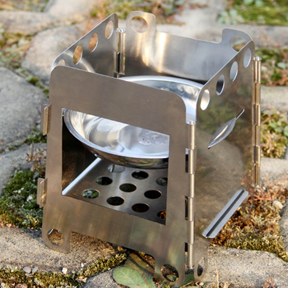 Customer Reviews - Portable Stainless Steel Lightweight Folding Wood Stove Pocket