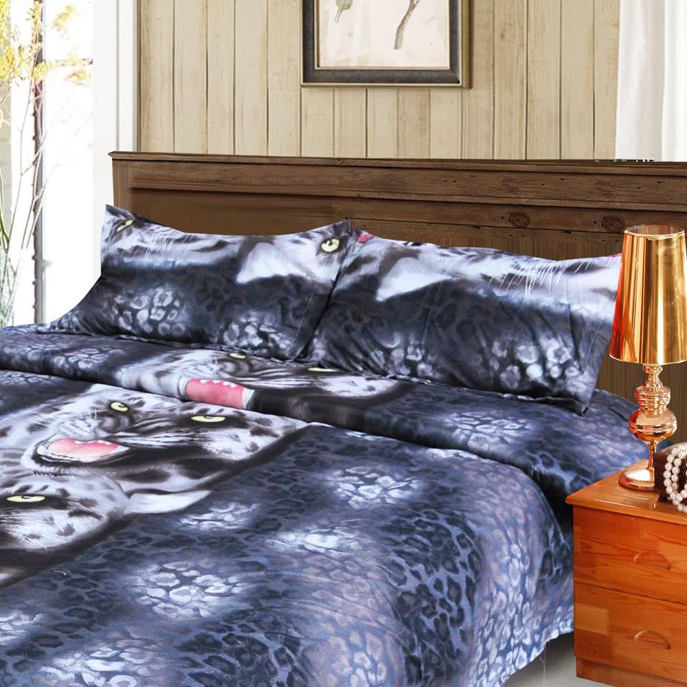 4pcs 3d printed bedding set bedclothes black tiger queenking size duvet coverbed sheet2 pillowcases