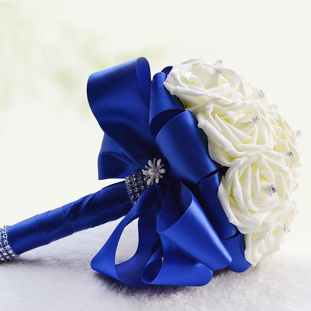 Букет для невесты в синем цвете своими руками