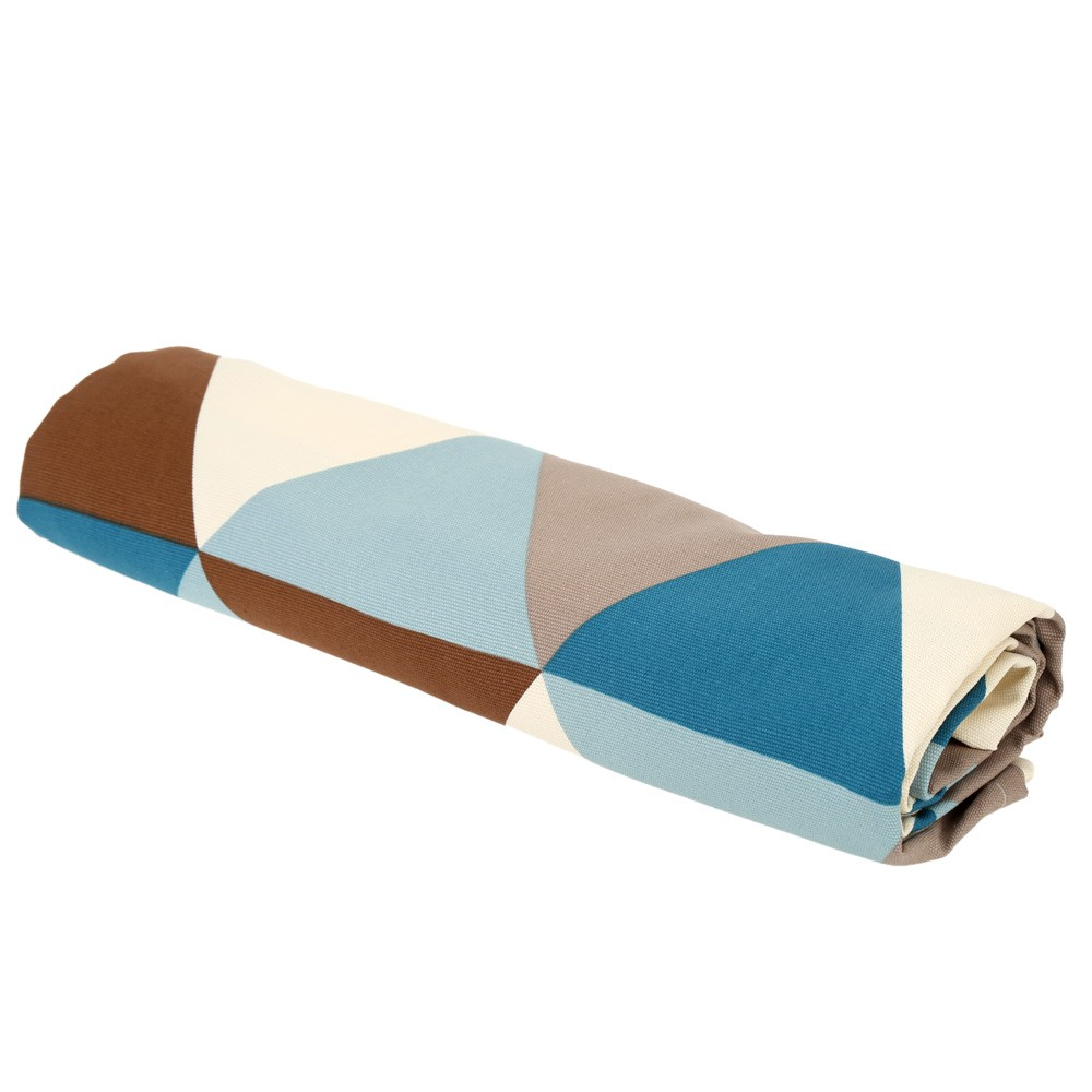 moderne nappe du motif de triangle g om trique en coton 180 h16051 1. Black Bedroom Furniture Sets. Home Design Ideas