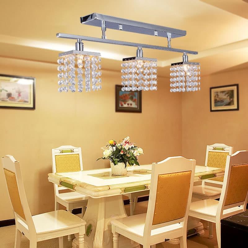 Crystal Chandelier With 3 Lights Lamp Ceiling Lighting