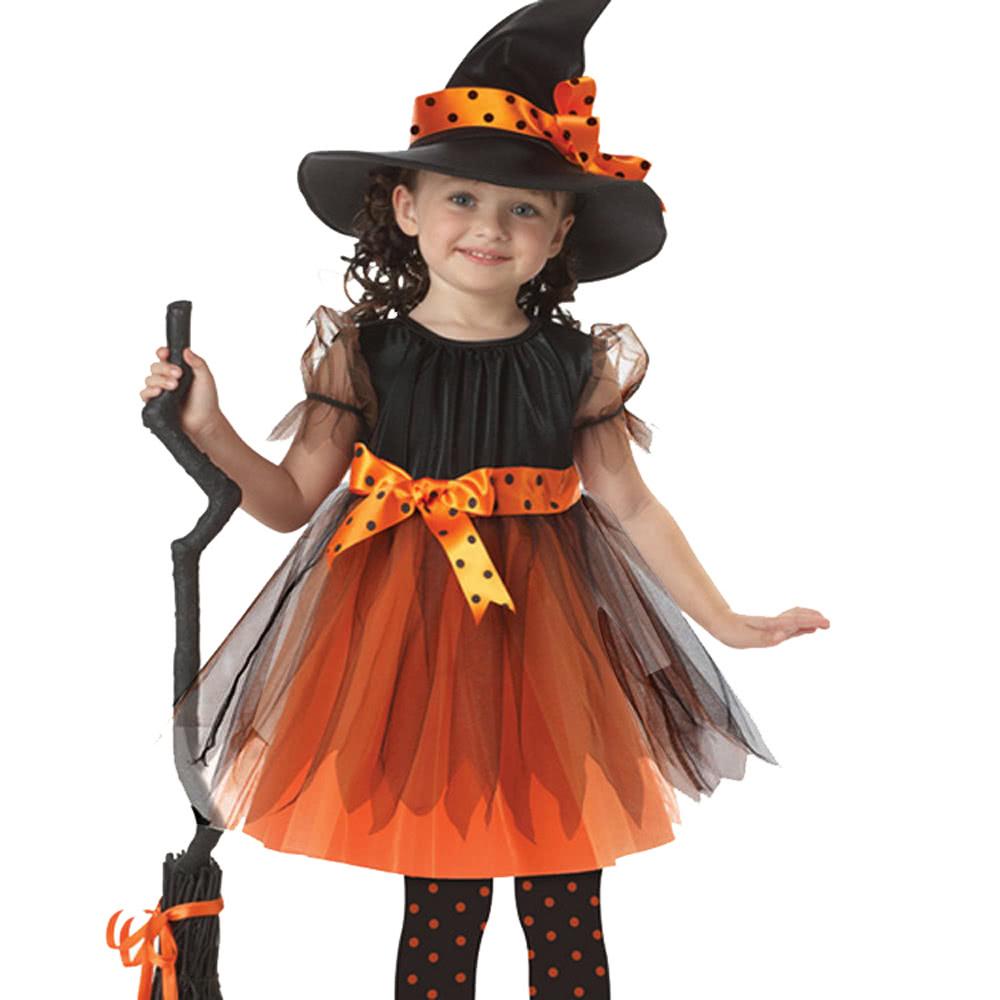 Костюм для хэллоуина ведьмы для детей