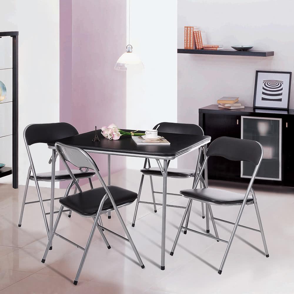 iKayaa 5PCS Metal Folding Kitchen Dining Table Chair Set Sales Online #1 - Tomtop.com & iKayaa 5PCS Metal Folding Kitchen Dining Table Chair Set Sales ... islam-shia.org