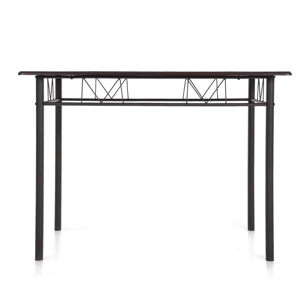 ikayaa 5pcs modern metal frame dining kitchen table chairs set