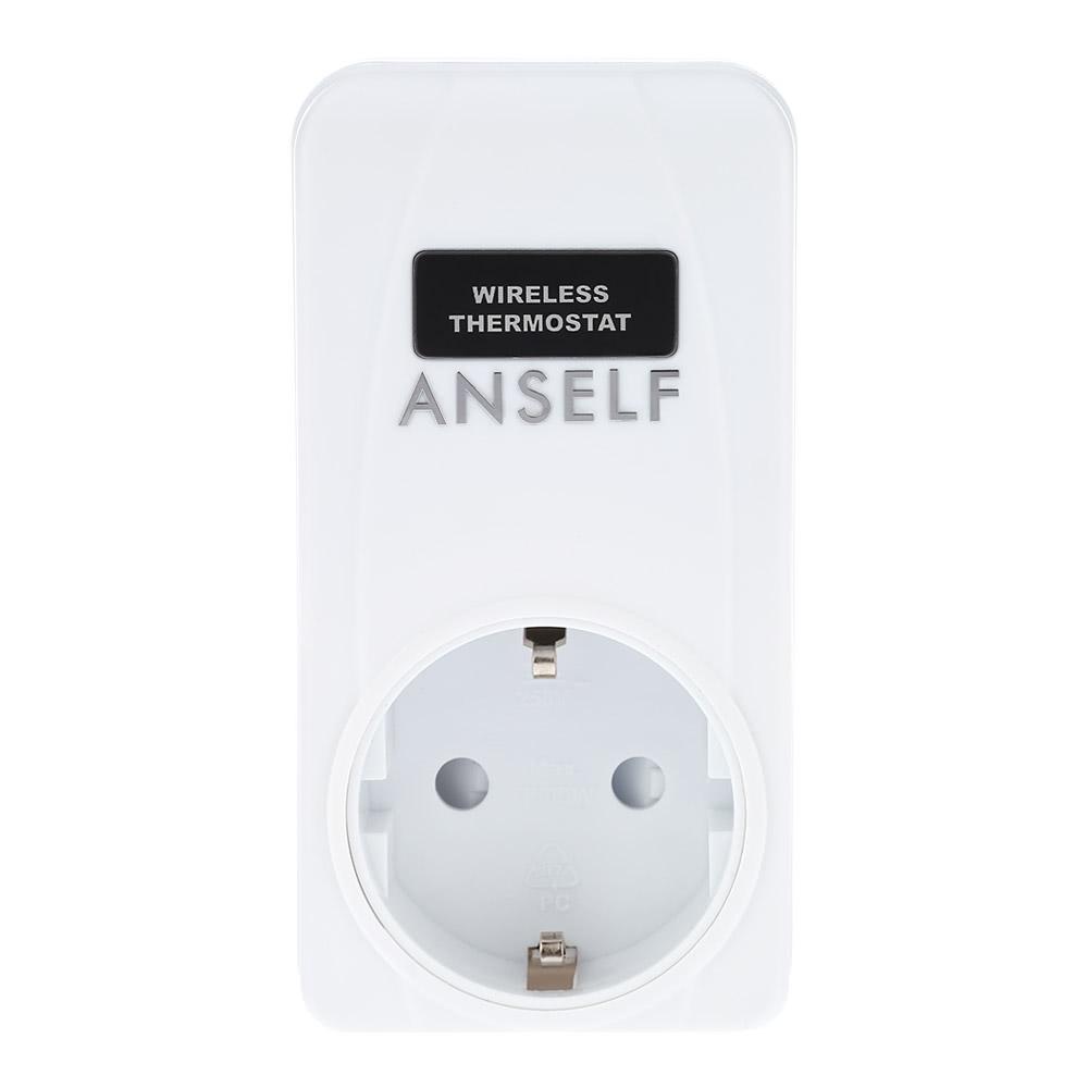 anself rf 433mhz wireless thermostat plug lcd remote control sales