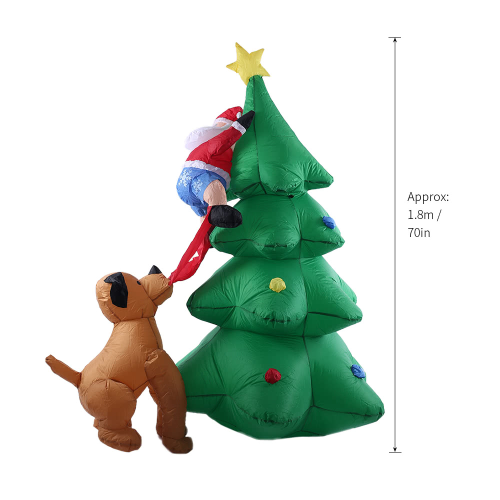 18m70in tall inflatable christmas tree santa claus dog decor sales online tomtopcom - Tall Christmas Tree