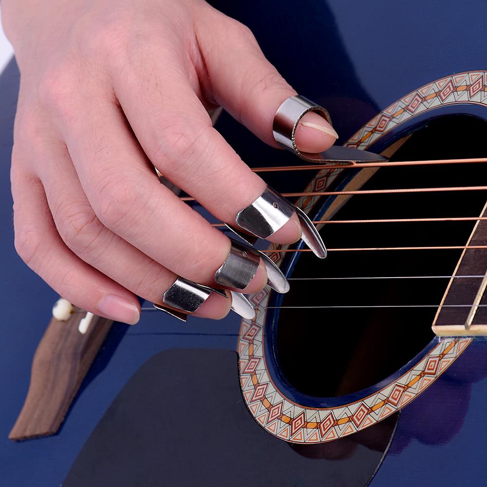 Stainless Steel Guitar Banjo Ukulele Picks Plectrum 3pcs