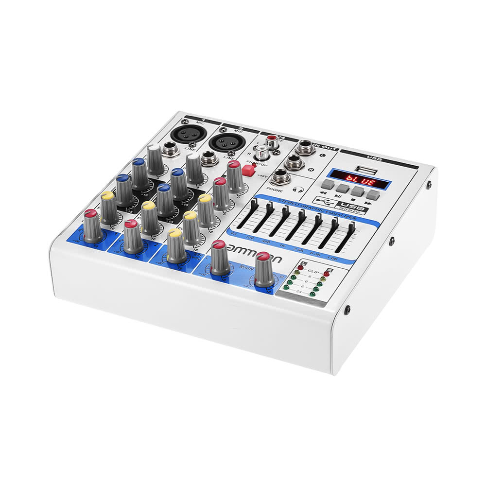 $8 OFF ammoon Size 4-Channel Audio Mixer,free shipping $47.89