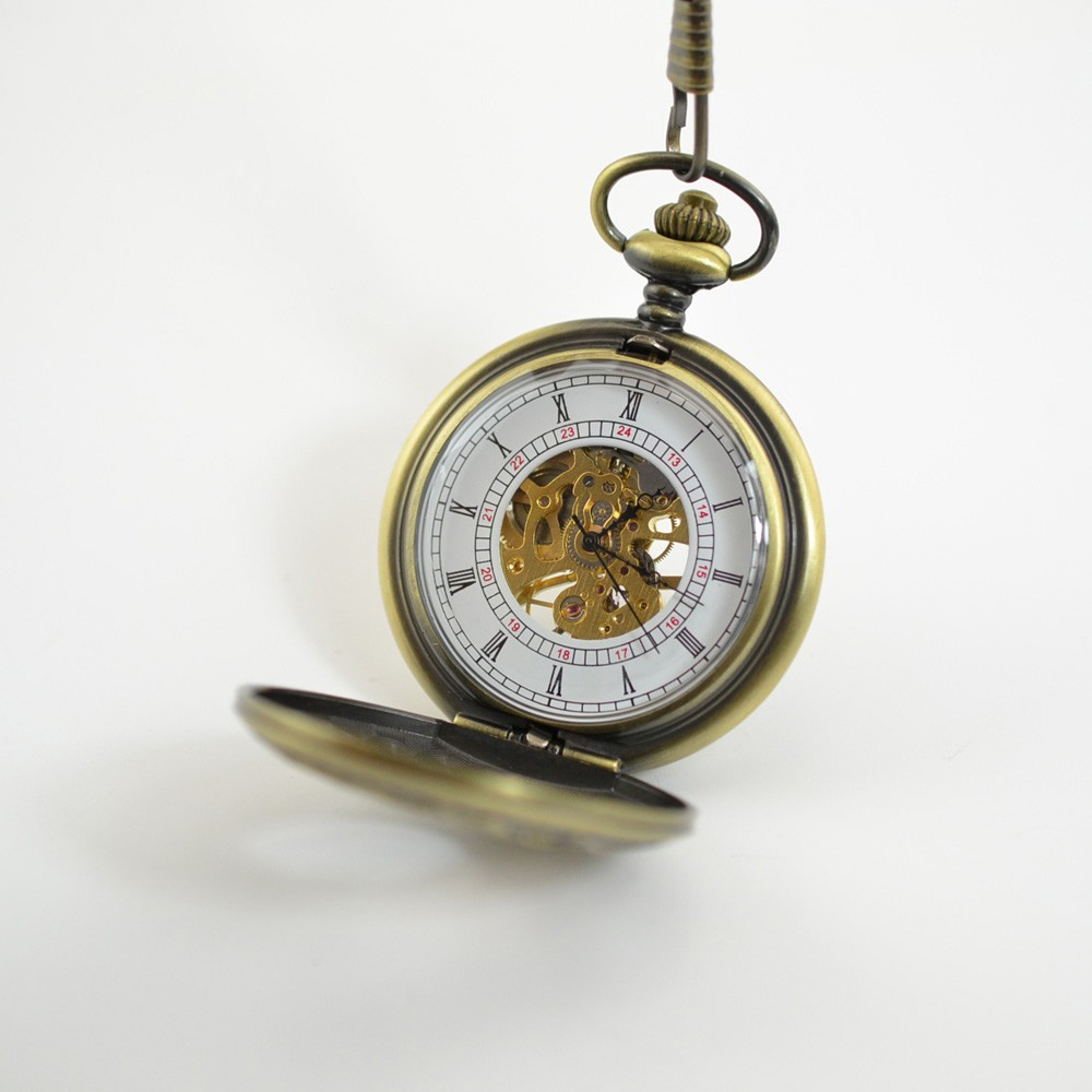 Cheap Vintage Hollow Case Semi-Auto Men Pocket Watch Roman ...