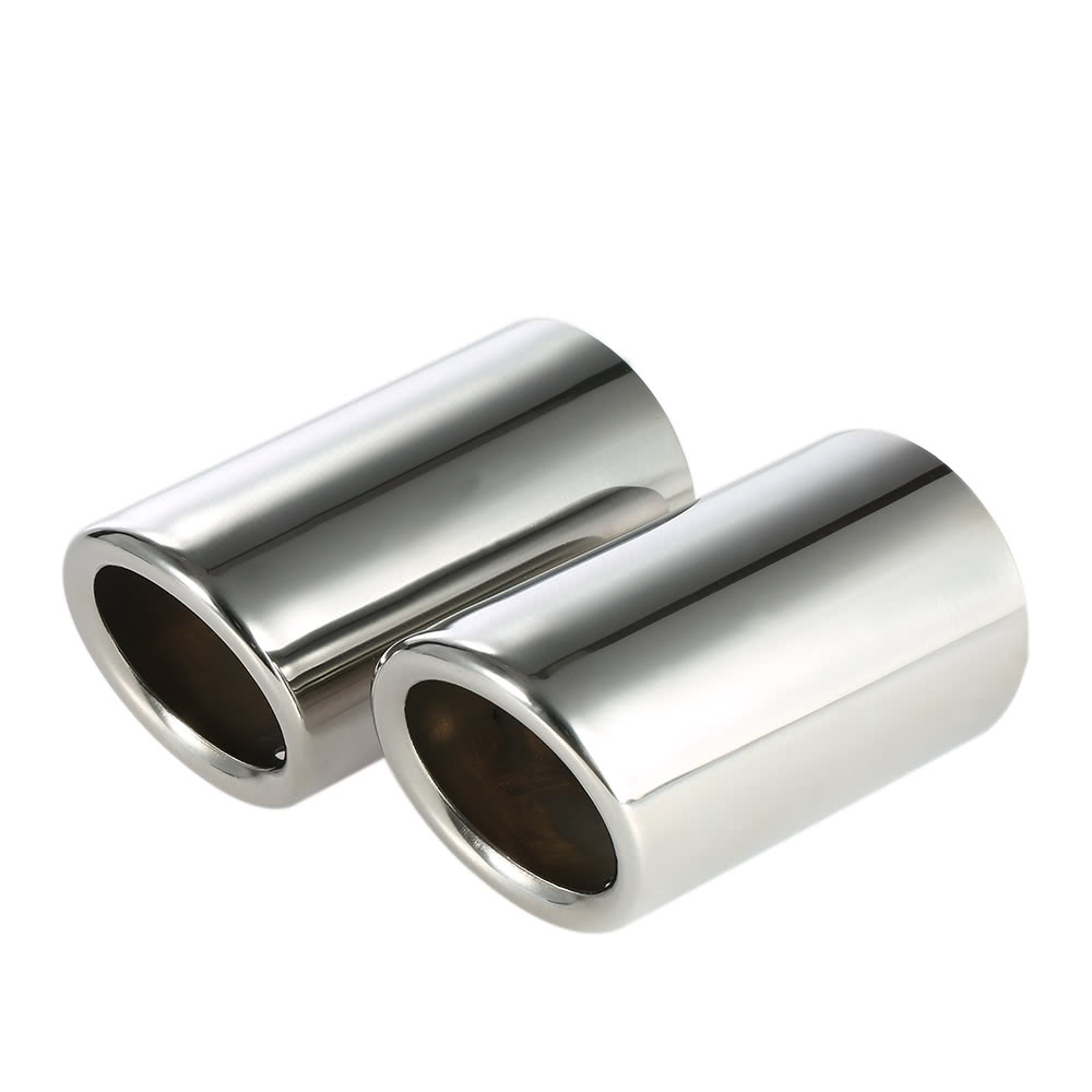 Pair of car stainless steel exhaust tail pipes muffler