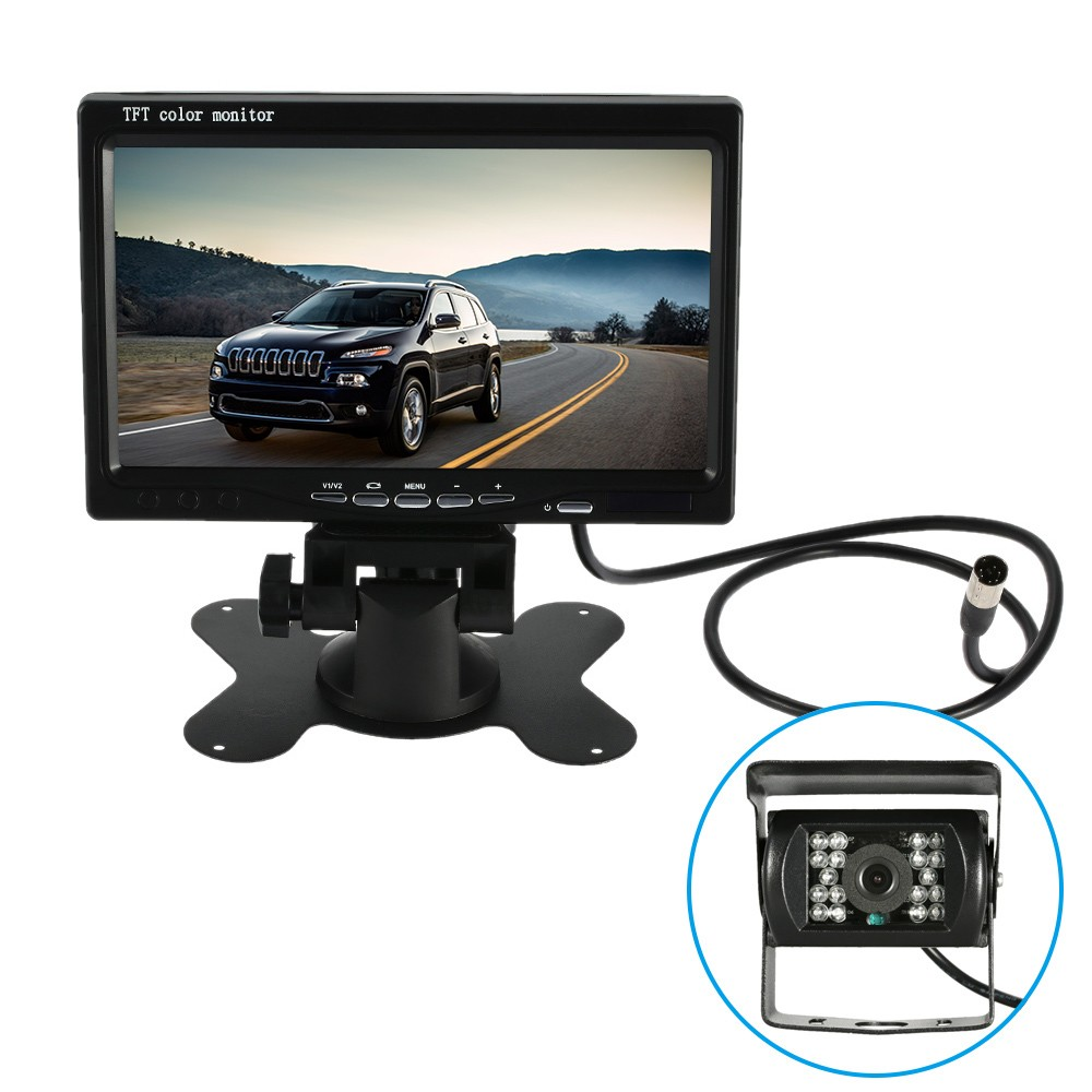 only us v inch large tft lcd monitor wireless video only us 52 91 12v 7 inch large tft lcd monitor wireless video transmit car rear com