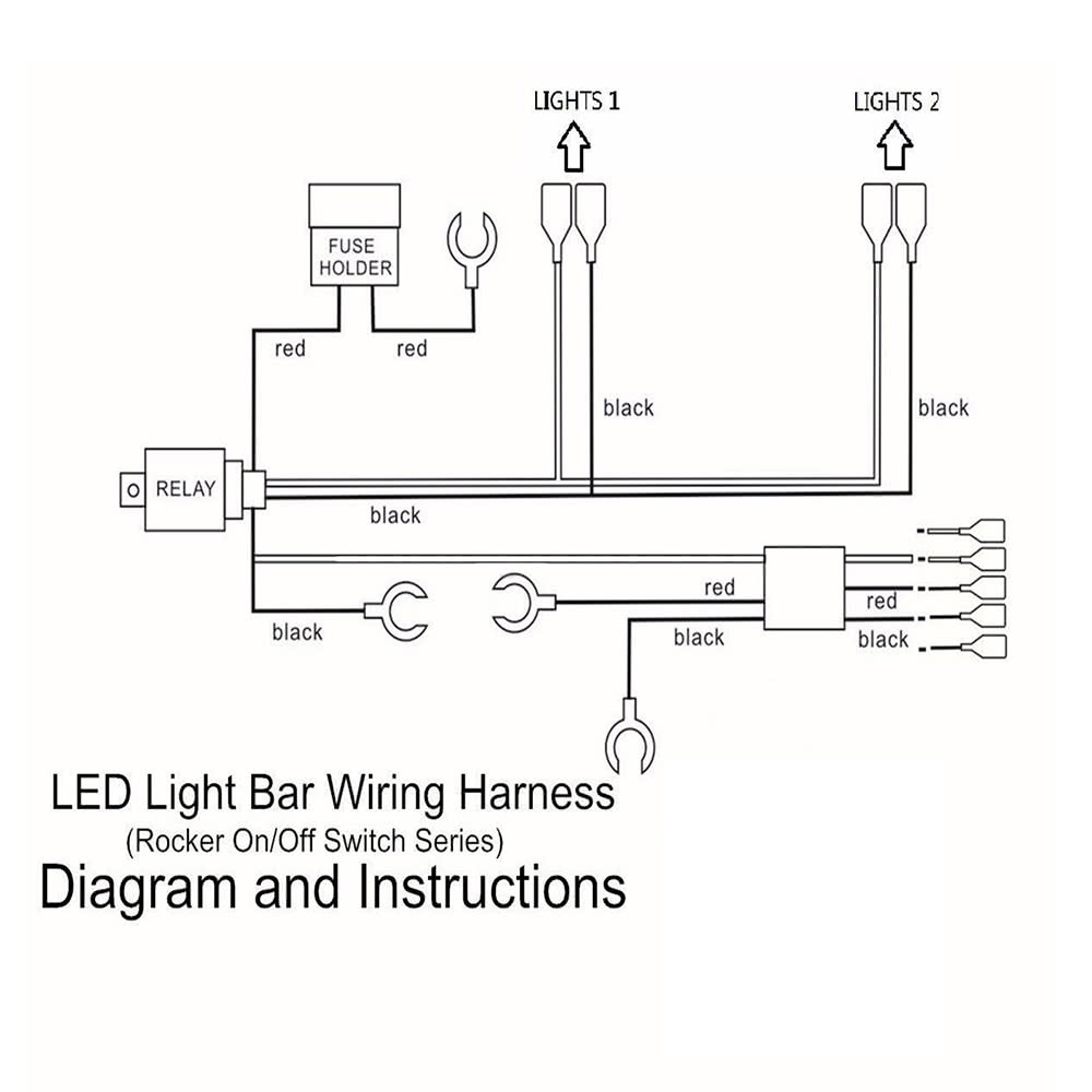 Only US Black LED Fog Light Laser Rocker OnOff Switch With - Relay wiring diagram lights