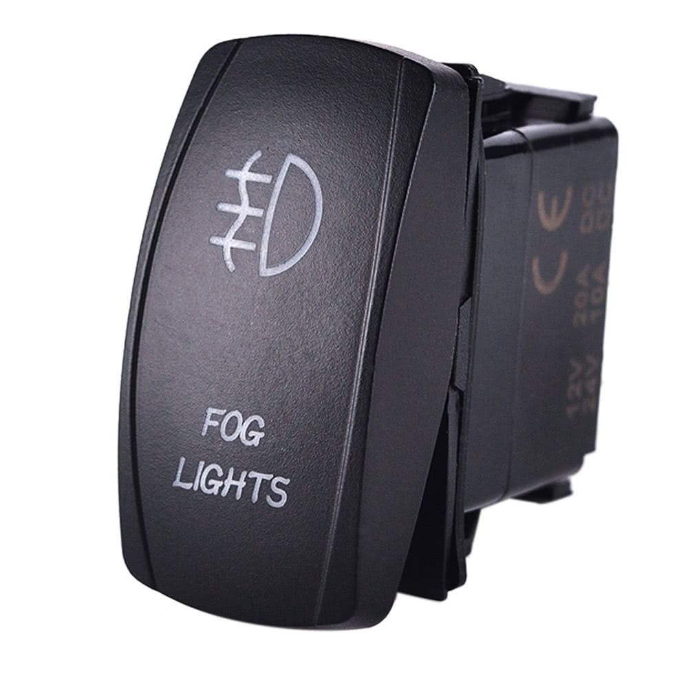 Only US Black LED Fog Light Laser Rocker OnOff Switch With - 12 volt switches and relays