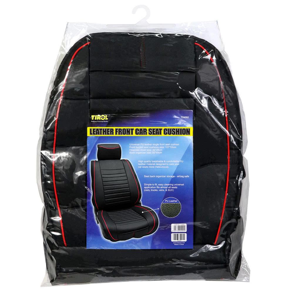 tirol single piece pu leather universal front single car seat covers seat cushion - Car Seat Cushions