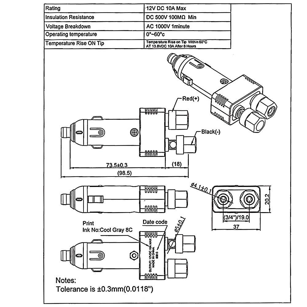 K4246 1 7a8e 9r5Y jtron 12v 10a car cigarette lighter plug with power wiring sales car cigarette lighter wiring diagram at virtualis.co