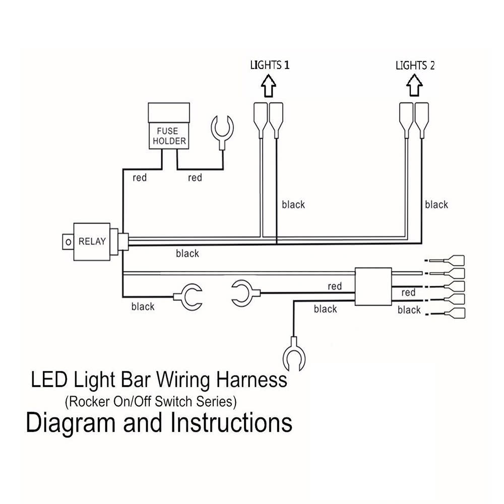 K4776 1 5bd2 J8Zn led light bar rocker on off switch with relay wiring harness sales 50 300 watt led light bar wiring harness at bayanpartner.co