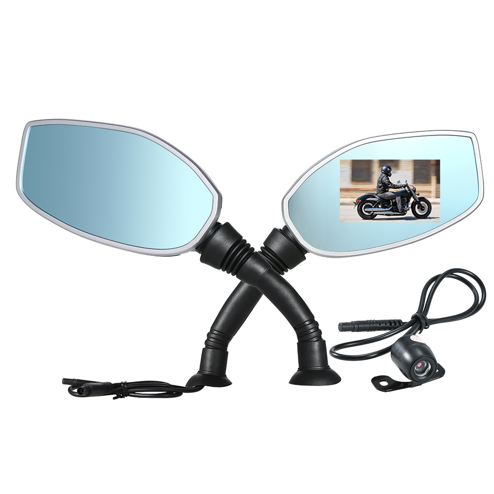 $10 OFF Motorcycle Rearview Twin Camera DVR,free shipping $40.99