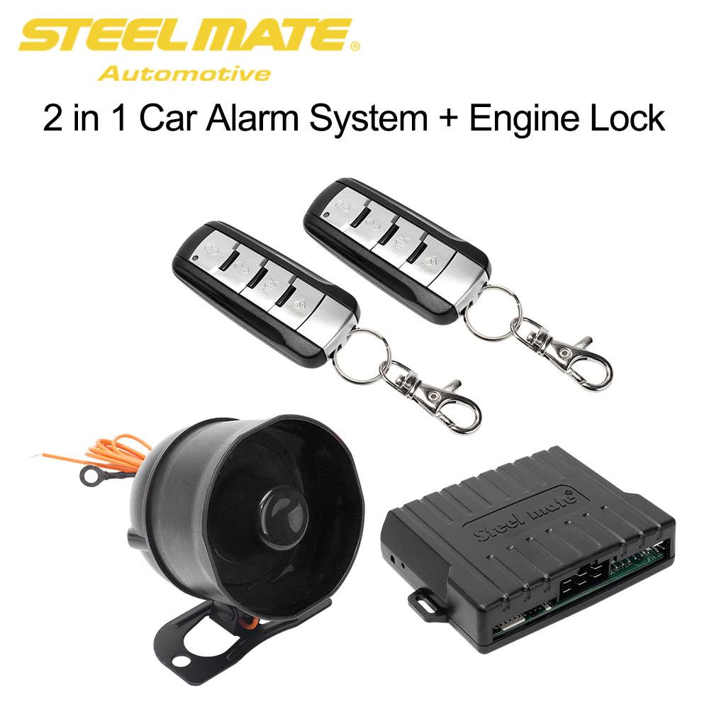 steelmate sk02 car alarm security system smart engine lock sales online tomtopcom