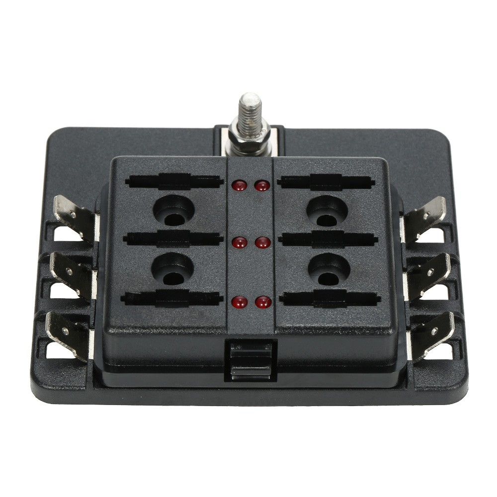 K5647 1 c8e2 InuG 6 way blade fuse box holder with led warning light 12 fuses for boat fuse box location at reclaimingppi.co